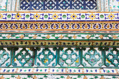 Ceramic decoration,wat arun temple Royalty Free Stock Photo