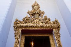 Temple of dawn entrance in Bangkok, Thailand Stock Image