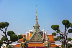 Temple of dawn entrance in Bangkok, Thailand Stock Photos