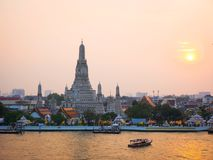Temple of Dawn, Wat Arun, Bangkok, Thailand stockfotografie