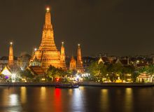 Temple of the dawn. Wat Arun, Bangkok, Thailand royalty free stock images