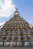 The Temple of Dawn Wat Arun and blue sky Stock Photo