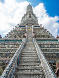 The Temple of Dawn Wat Arun. The Temple of Dawn Wat Arun and blue sky in Bangkok, Thailand Stock Photo