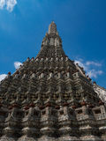The Temple of Dawn Wat Arun and blue sky in Bangkok, Thailand Royalty Free Stock Images