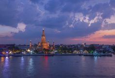 Temple of the dawn, Wat Arun Royalty Free Stock Photos