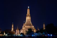 Temple of Dawn (Wat Arun) at Night Stock Image