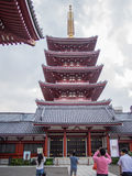 Temple de 寺 de ‰ de  d'è de æµ de Sensoji…, Tokyo, Japon, pagoda Images libres de droits