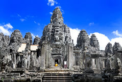 temple de 02 séries de bayon Images libres de droits