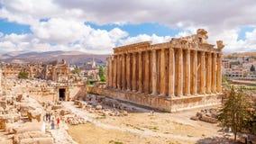 Temple de Bacchus à Baalbek, Liban Photo libre de droits