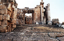 Temple de Bacchus Photo stock