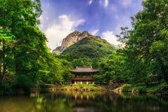 Temple de Baegyangsa en été Photos libres de droits