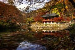 Temple de Baegyangsa en automne Photos libres de droits
