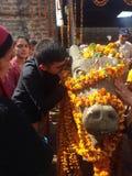 Temple de Baijnath dans HP images stock