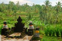 Temple de Bali dans la nature Photo stock