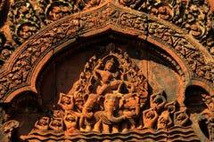 Temple de Banteay Srei photos libres de droits