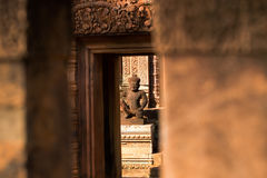 Temple de Banteay Srei Photo stock