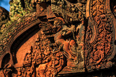 Temple de Banteay Srei Photographie stock libre de droits