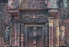 Temple de Banteay Srei. Angkor. Le Cambodge. Photos libres de droits
