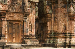 Temple de Banteay Srei, Angkor Vat Photo stock