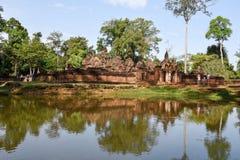 Temple de Banteay Srei chez Siem Reap au Cambodge Images stock