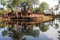 Temple de Banteay Srei chez Siem Reap au Cambodge Image libre de droits