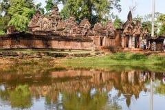 Temple de Banteay Srei chez Siem Reap au Cambodge Photos libres de droits