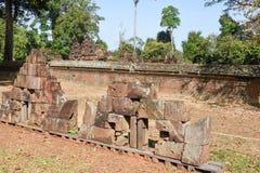 Temple de Banteay Srei chez Siem Reap, Cambodge Photo stock