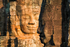 Temple de Bayon à Angkor Thom photographie stock libre de droits