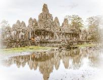 Temple de Bayon Photo stock