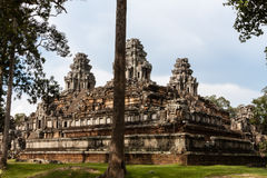 Temple de Bayon, Anghor Photo stock