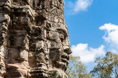 Temple de Bayon, Anghor Photo libre de droits