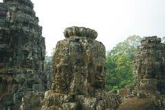 Temple de Bayon, Angkor au Cambodge Images stock