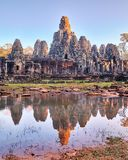 Temple de Bayon, Angkor, Siem Reap, Cambodge Photos libres de droits