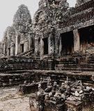 Temple de Bayon, Angkor Thom, Siem Reap, Cambodge photos stock