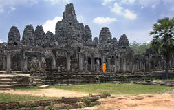 Temple de Bayon - Angkor Wat - Cambodge Images stock