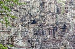 Temple de Bayon avec ses visages en pierre célèbres à Angkor Thom au Cambodge photographie stock libre de droits