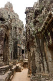 Temple de Bayon, Cambodge Images libres de droits