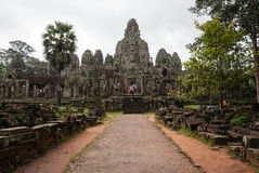 Temple de Bayon, Cambodia Fotos de Stock Royalty Free