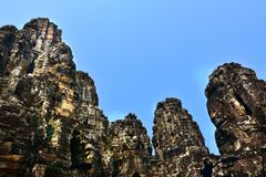 Temple de Bayon dans Angkor, Cambodge Photos stock