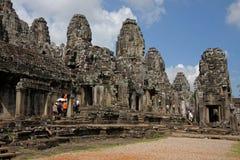 Temple de Bayon, dans le complexe d'Angkor Photos stock