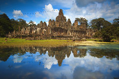 Temple de Bayon dans Siem Reap, Cambodge Photo libre de droits