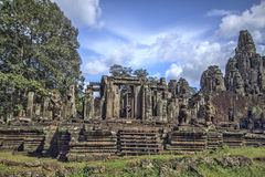 Temple de Bayon dans Siem Reap, Cambodge Photos libres de droits