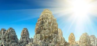 temple de Bayon du soleil, Angkor, Cambodge photos libres de droits