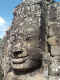Temple de Bayon, wat d'Angkor, Cambodge photographie stock libre de droits