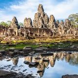 Temple de Bayon, wat d'Angkor, Cambodge Image libre de droits