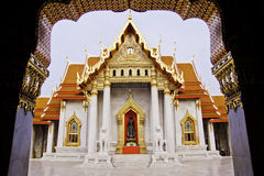 Temple de Benchamabophit de Bangkok Thaïlande Photo libre de droits
