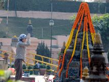 Temple de Bodhgaya dans Bodhgaya, le Bihar, Inde Photo libre de droits