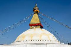 Temple de Bodnath de Tibétain Images libres de droits
