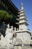 Temple de Bomunsa, île de Jeju, Corée du Sud Images libres de droits