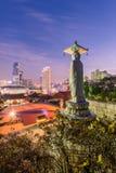 Temple de Bongeunsa d'horizon du centre dans la ville de Séoul, Corée du Sud images stock